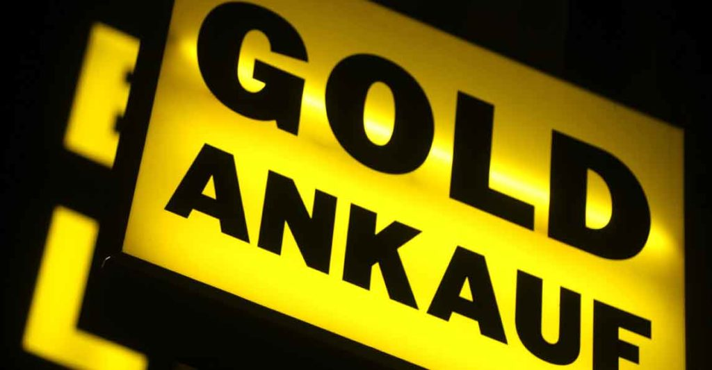 Ladenschild Goldankauf